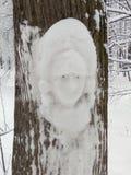Efter ett enormt tungt snöfall royaltyfria bilder
