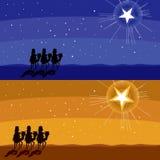 Efter glänsande stjärna vektor illustrationer