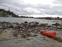 Efter havsstormen royaltyfria bilder
