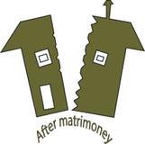 Efter matrimoneyillustration Arkivbild