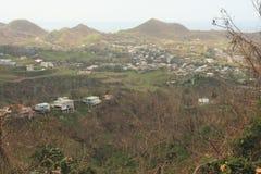 Efter orkanen Maria Rincon Puerto Rico September 2017 royaltyfri bild