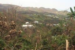 Efter orkanen Maria Rincon Puerto Rico September 2017 Arkivbild
