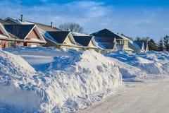 Efter Snowstormen royaltyfri fotografi