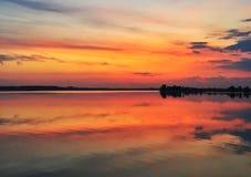 Efter solnedgång Arkivfoto
