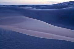 Efter solnedgång på den stora nationalparken för sanddyn Royaltyfri Foto