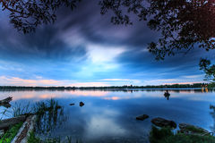Efter solnedgång på sjön Wilcox royaltyfria foton