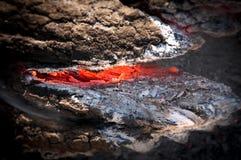 Efterdyning av brand Arkivfoton