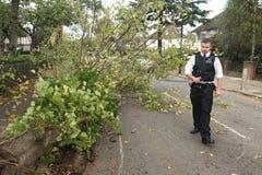 Efterdyning av stormen för St Jude Fotografering för Bildbyråer