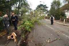 Efterdyning av stormen för St Jude Arkivfoton