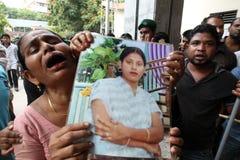 EfterdyningRanaplaza i Bangladesh (mappfotoet) Arkivfoton