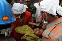 EfterdyningRanaplaza i Bangladesh (mappfotoet) Royaltyfri Bild