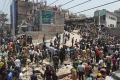 EfterdyningRanaplaza i Bangladesh (mappfotoet) Royaltyfri Fotografi