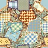 Efterföljd av en patchwork vektor illustrationer