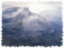 Efterföljd av olje- målning av vattenbakgrund Arkivfoto