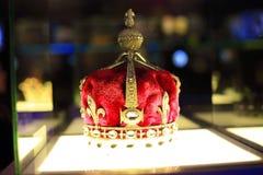 Efterföljden av kronan 1911 för drottning marys Arkivfoto