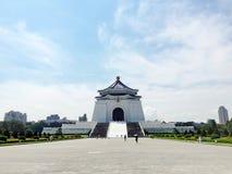 Eftermiddag för solig dag på den Chiang Kai Shek Memorial Hall CKSEN, CKSMH, Taipei, Taiwan royaltyfria foton