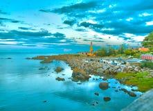 Eftermiddag i det baltiska havet Fotografering för Bildbyråer