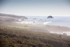 Eftermiddag längs Stillahavskustenhuvudväg 1 Arkivfoto