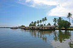 Eftermiddag på de Keralan avkrokarna Arkivfoton