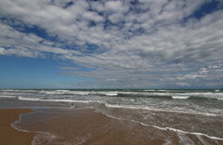 Eftermiddag på stranden Fotografering för Bildbyråer