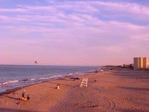 Eftermiddag på stranden för huvud för hästkrake` s, North Carolina Royaltyfri Bild