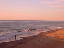 Eftermiddag på stranden för huvud för hästkrake` s, North Carolina Royaltyfria Bilder
