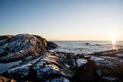 Eftermiddag vid kusten Royaltyfria Foton