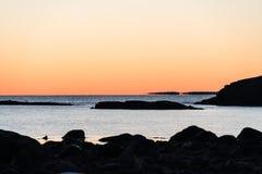 Eftermiddag vid kusten Fotografering för Bildbyråer