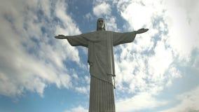 Eftermiddagsikt av Kristus Förlossarestatyn i Rio de Janeiro lager videofilmer