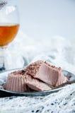Efterrätt - chokladkaka Royaltyfri Foto
