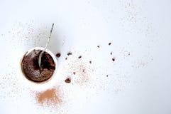 Efterrätt - chokladkaka Arkivbild