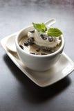 efterrätt för bönachokladkaffe Arkivfoton
