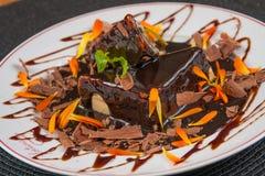 Efterrätt för chokladkaka royaltyfri fotografi