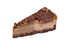 Efterrätt - läcker ostkaka med choklad Arkivfoto