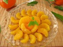 Efterrätt med mandarins Royaltyfria Bilder