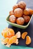 Efterrätt med tangerinen Royaltyfri Fotografi