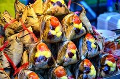 Sort av thailändsk sweetmeat Fotografering för Bildbyråer