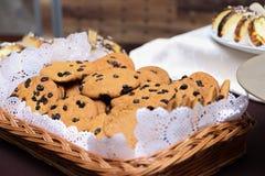 Efterrätter och kakor Fotografering för Bildbyråer