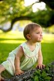 eftertänksamt barn Royaltyfri Bild