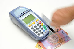 EFTPOS machine. Royalty Free Stock Images