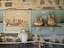 Egípcio Amphorae Fotos de Stock Royalty Free