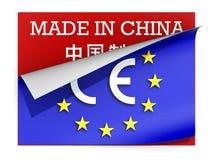 EG-merketiket over etiket in China wordt gemaakt dat Royalty-vrije Stock Fotografie