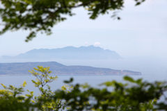 Egadi islands seen from erice Royalty Free Stock Photo