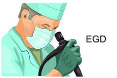 EGD, diagnóstico da úlcera gástrica ilustração do vetor