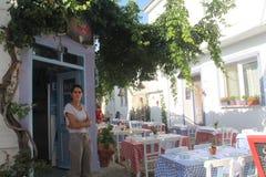 Egeïsch gebied - restaurant Royalty-vrije Stock Afbeeldingen