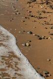 Egeïsch gebied, strand, vrede en golven royalty-vrije stock foto's