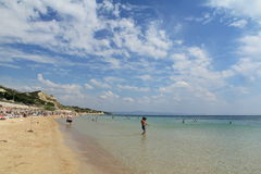 Egeïsch gebied - Tenedos-eiland, Ayazma-strand stock afbeelding