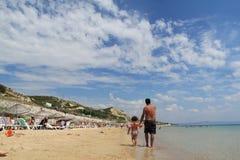 Egeïsch gebied - Tenedos-eiland, Ayazma-strand Royalty-vrije Stock Afbeeldingen