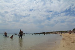 Egeïsch gebied - Tenedos-eiland, Ayazma-strand stock foto