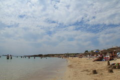 Egeïsch gebied - Tenedos-eiland, Ayazma-strand Stock Foto's